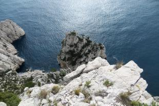 View from above the cliffs