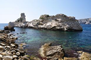The torpilleur in the calanque of Sugiton