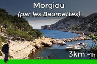 Way to go to Morgiou from Les Baumettes