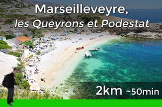 Hiking trail from Callelongue to Marseilleveyre and Podestat