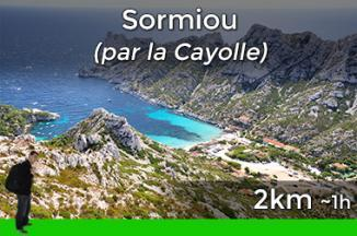 Way to go to the calanque of Sormiou from La Cayolle