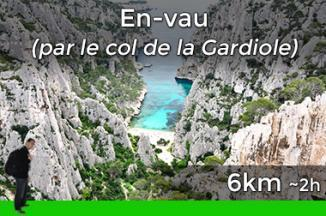 Way to go to the calanque d'En-Vau