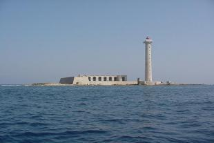 The lighthouse of Planier seen from the sea